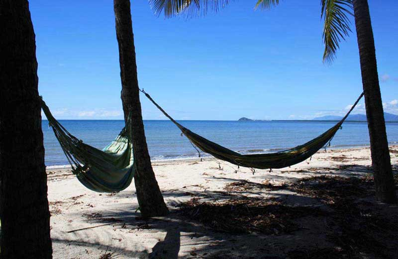 Hammocks by the Coral Sea at Newell Beach